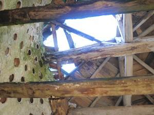 Le toit dégradé du colombier