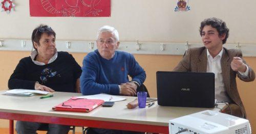 Les membres du bureau de l'association LACDG lors de l'assemblée générale de 2019